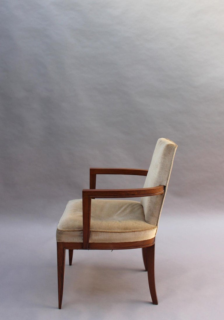 Pair of Fine French Art Deco Rosewood Armchairs by Maxime Old For Sale 1