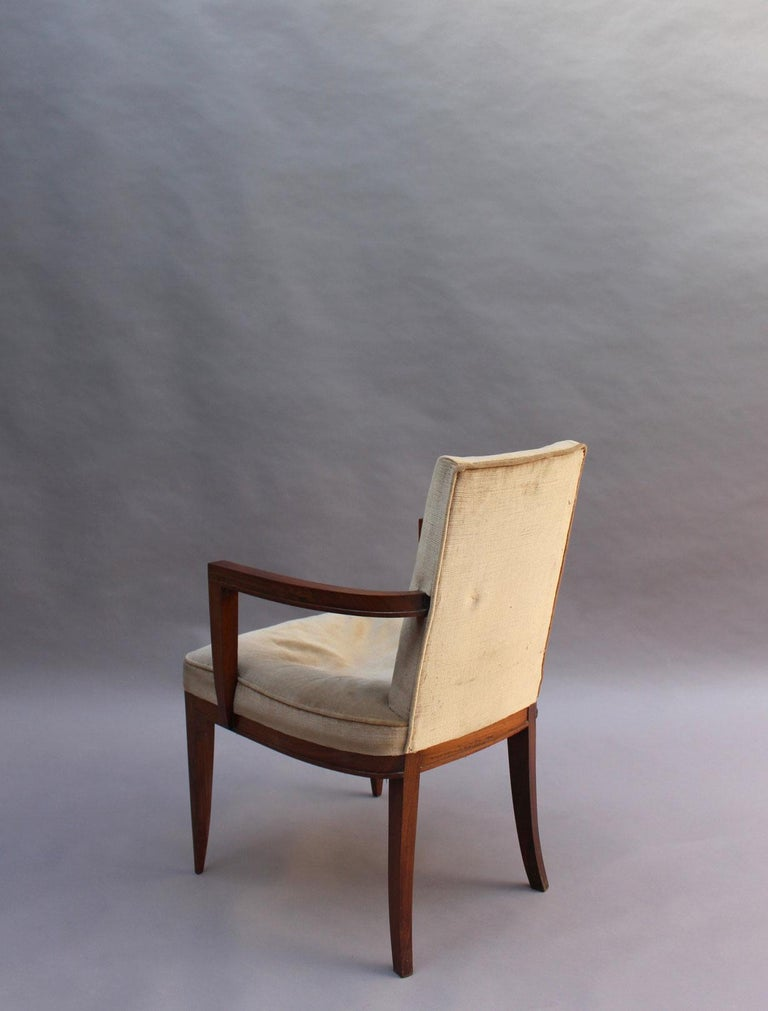 Pair of Fine French Art Deco Rosewood Armchairs by Maxime Old For Sale 2