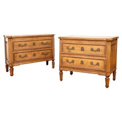 Pair of Fine French Carved Chests by Auffray & Co.