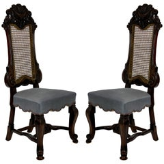 Pair of Fine George Trollope and Sons Hall Chairs