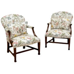 Pair of Fine Georgian Style Smith & Watson Armchairs