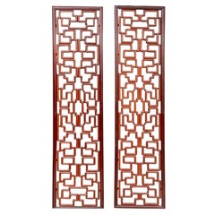 Pair of Fine Large Scale Carved Openwork Panels
