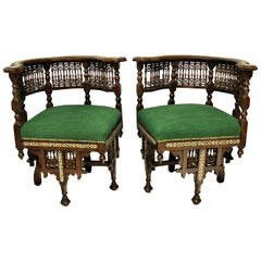 Pair of Fine Moorish Armchairs