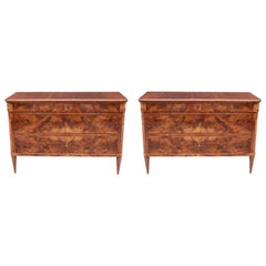 Pair of Fine Neoclassical Commodes