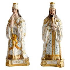 Pair of Fine Porcelains 'Couple Dignitaries'