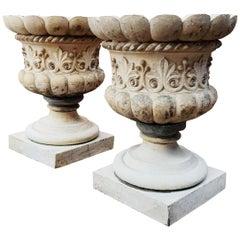Pair Of Fine Pulham & Son Stoneware Urns