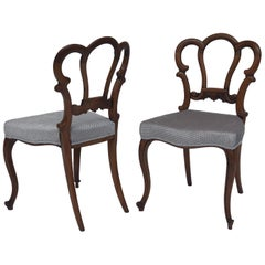 Pair of Fine Quality Victorian Walnut Side Chairs