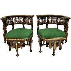 Pair of Fine Syrian Armchairs