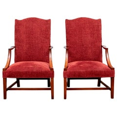 Pair of Finely Crafted Antique Cherry Armchairs