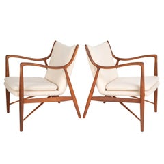 "Pair of Finn Juhl ""45"" Chairs for Baker Furniture, circa 1950s"