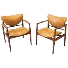 Pair of Finn Juhl Model 48 Armchairs
