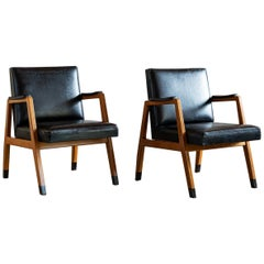 Pair of Finnish Armchairs by Lasse Ollinkari and Arne Ervi, 1940s