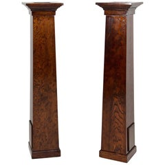 Pair of Fir Arts & Crafts Architectural Columns or Plant Stands