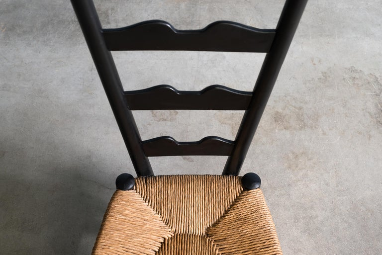 Wicker Pair of Fireside Chairs by Gio Ponti, circa 1939 For Sale
