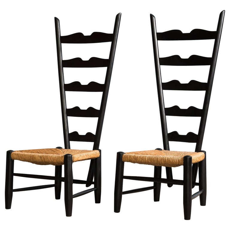 Giò Ponti Fireside chairs, ca. 1939, offered by Castorina & Co.