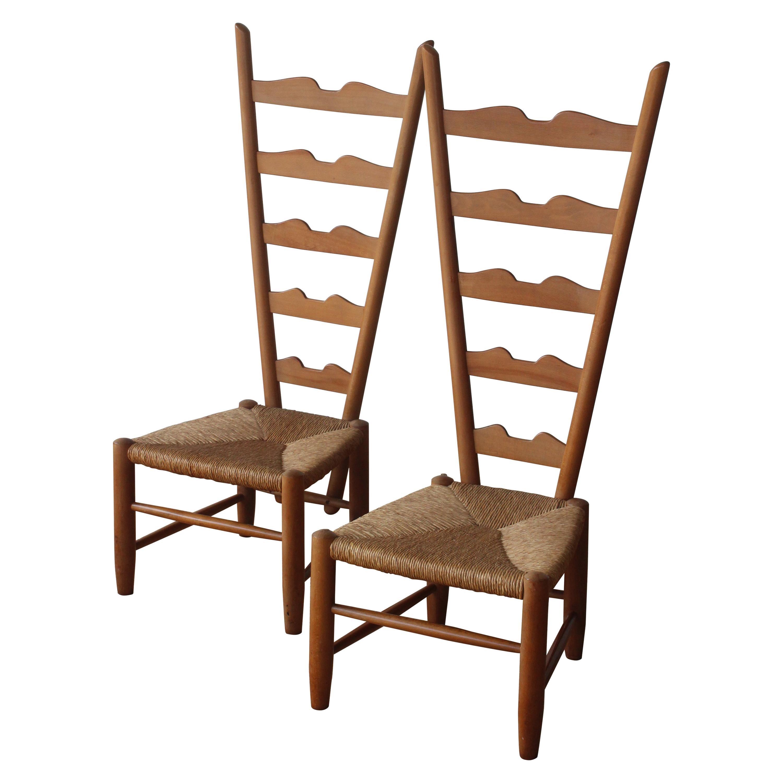 Pair of Fireside Chairs by Gio Ponti for Casa e Giardino, Italy, 1939