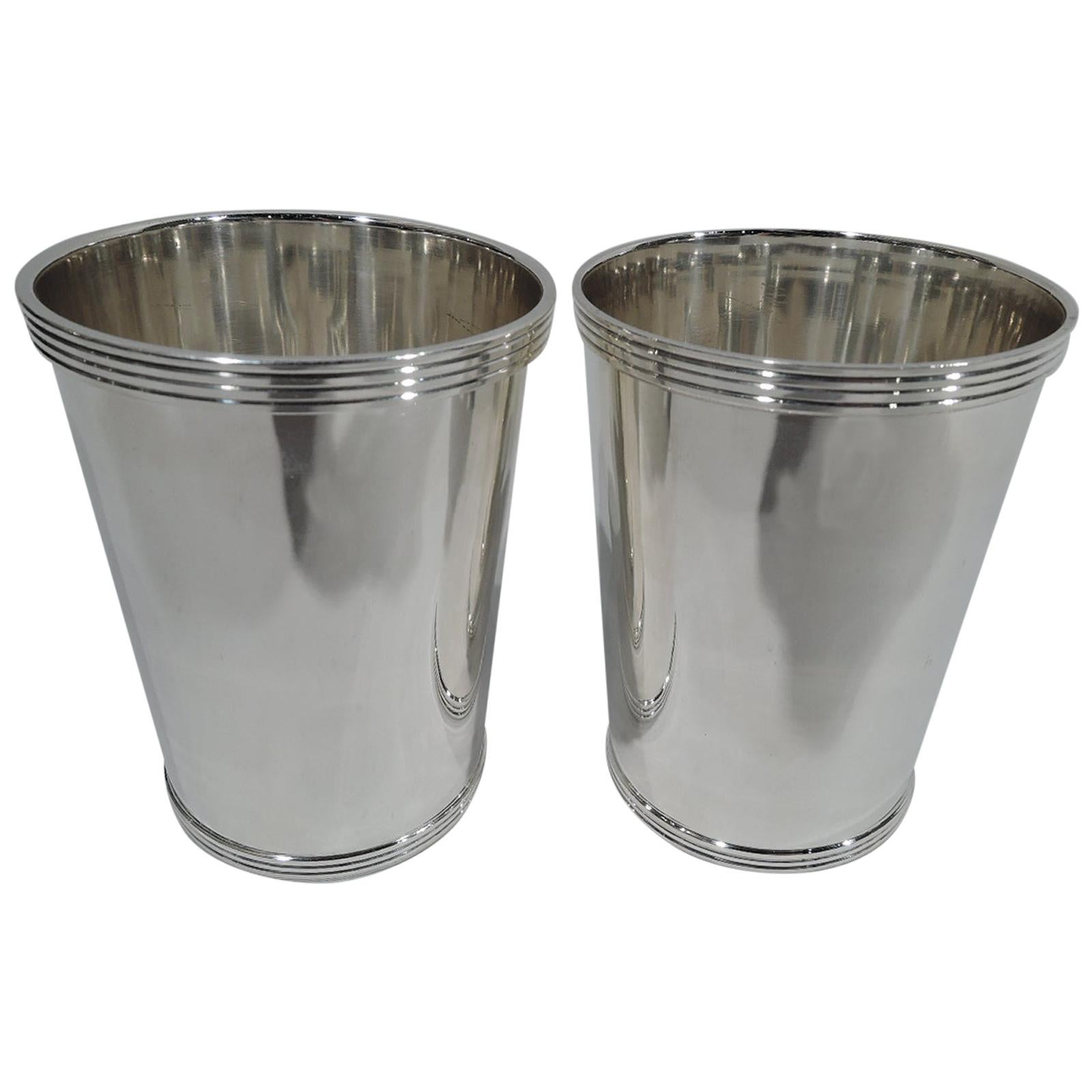 Pair of Fisher Traditional Sterling Silver Mint Julep Cups