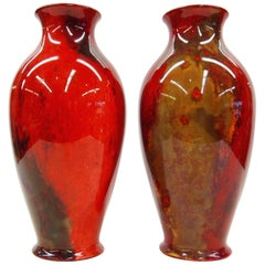 Pair of Flambe Vases from Royal Doulton