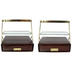 Pair of Floating Mid-Century Modern Nightstands by Silvio Cavatorta