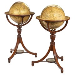 Pair of Floor Globes by Cary
