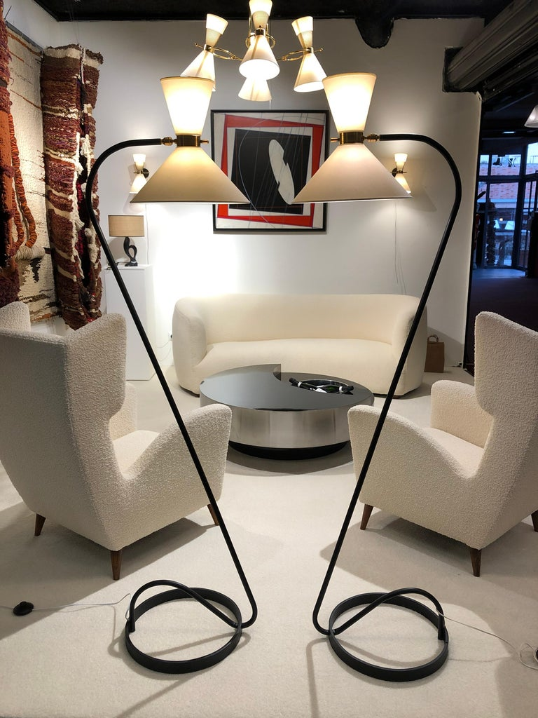 Pair of Floor Lamp by Maison Lunel, 1950 For Sale 3