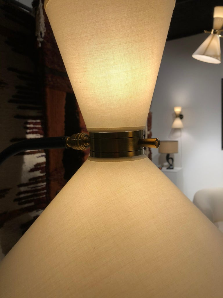 Mid-Century Modern Pair of Floor Lamp by Maison Lunel, 1950 For Sale