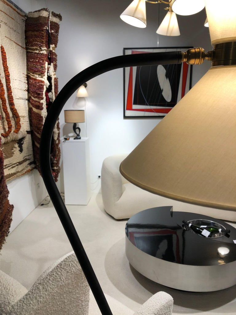 French Pair of Floor Lamp by Maison Lunel, 1950 For Sale