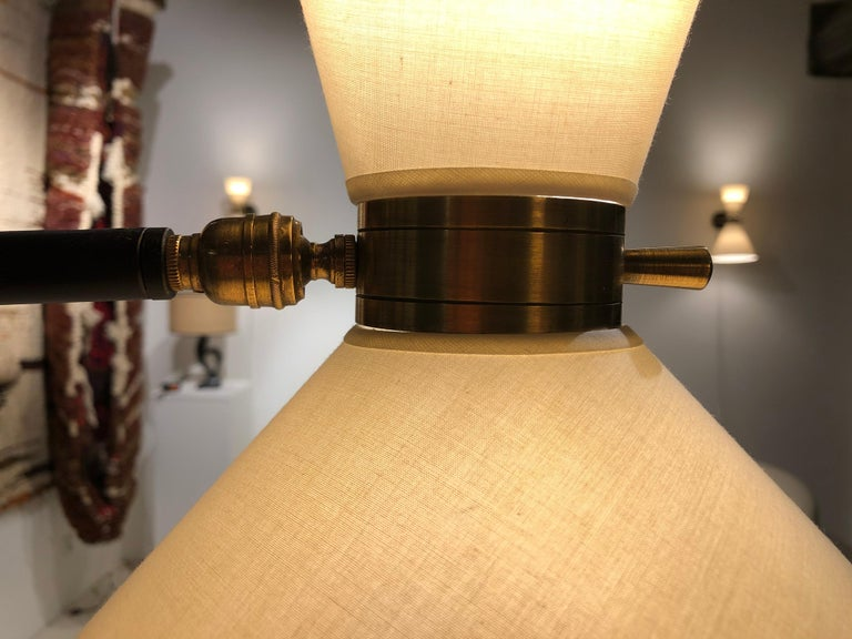 Metal Pair of Floor Lamp by Maison Lunel, 1950 For Sale