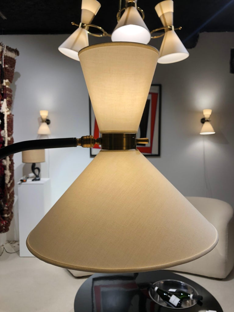Pair of Floor Lamp by Maison Lunel, 1950 For Sale 2