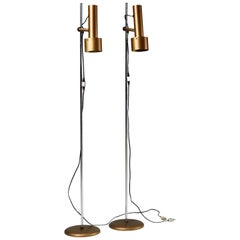 Pair of Floor Lamps Anonymous, Denmark, 1960s