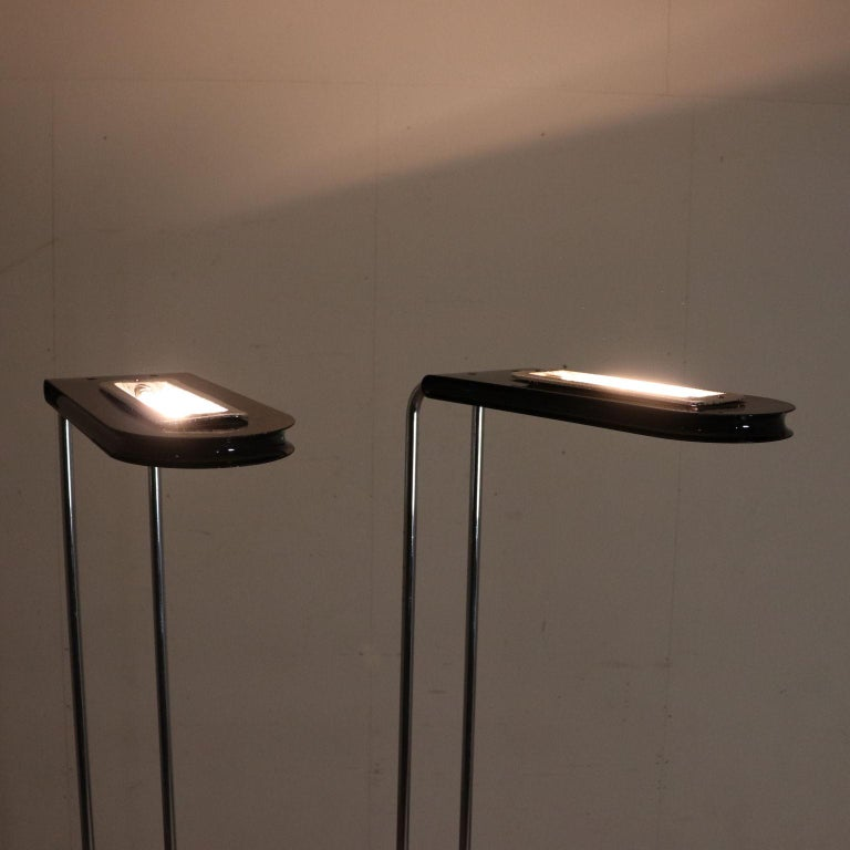 Pair Of Floor Lamps By Bruno Gecchelin Vintage Italy 1970s 1980s At 1stdibs