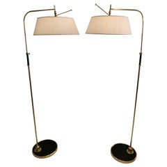 Pair of Floor Lamps by Lunel, 1950