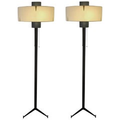 Pair of Floor Lamps by Maison Arlus, 1950
