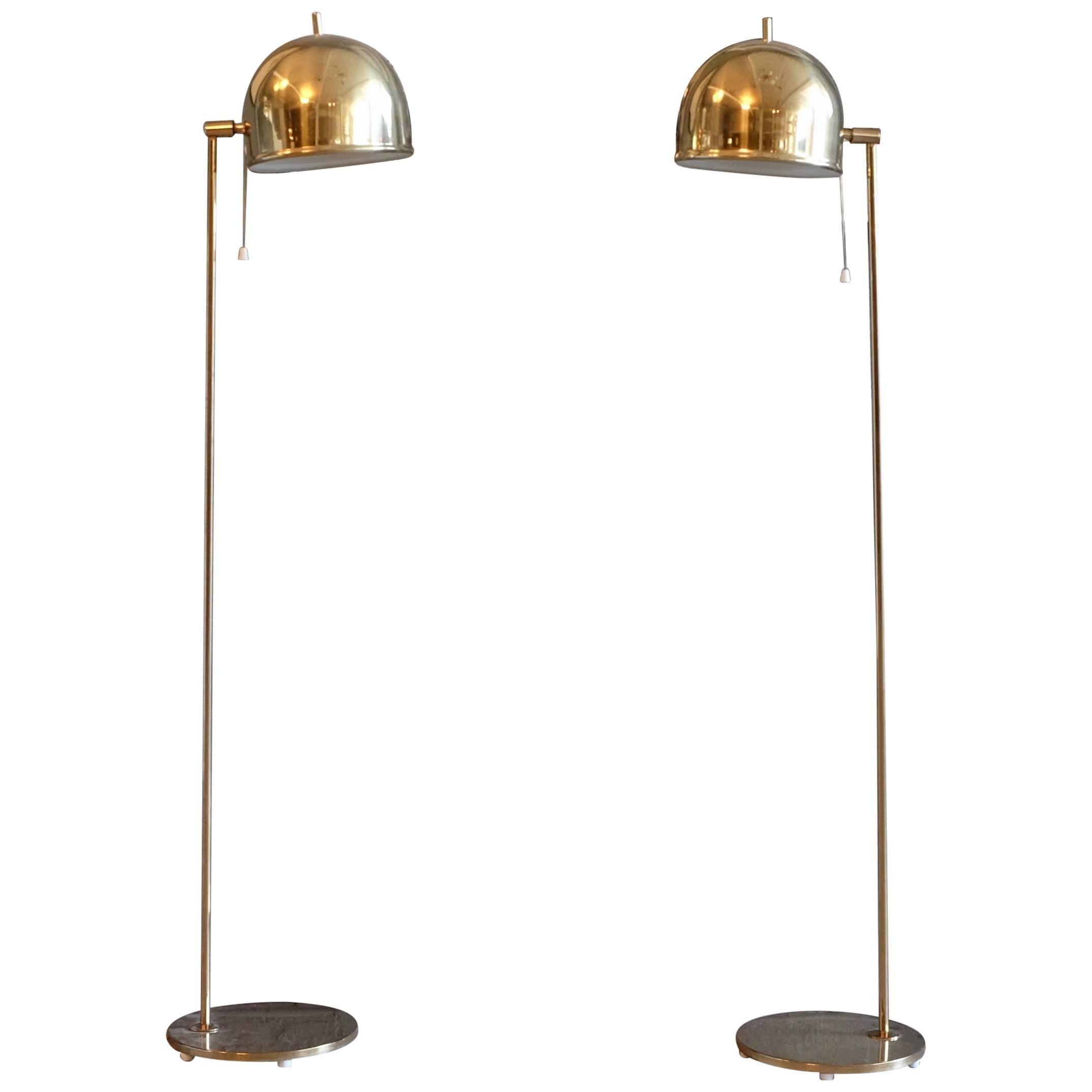 Pair of Floor Lamps, Model G-075, Bergboms, Sweden, 1960s