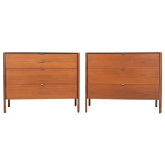 Pair of Florence Knoll 4-Drawer Dressers