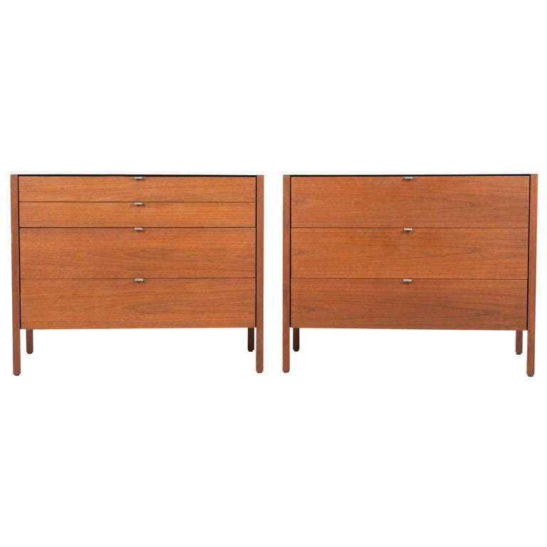 Pair of Florence Knoll 4-Drawer Dressers For Sale