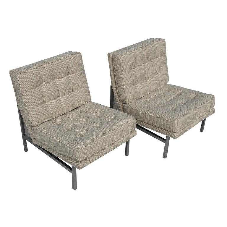 North American Pair of 1950s Midcentury Florence Knoll Lounge Chairs For Sale