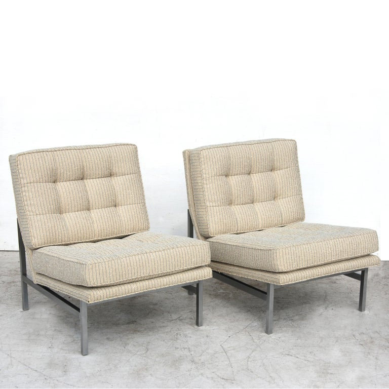 Pair of 1950s Midcentury Florence Knoll Lounge Chairs In Good Condition For Sale In Pasadena, TX