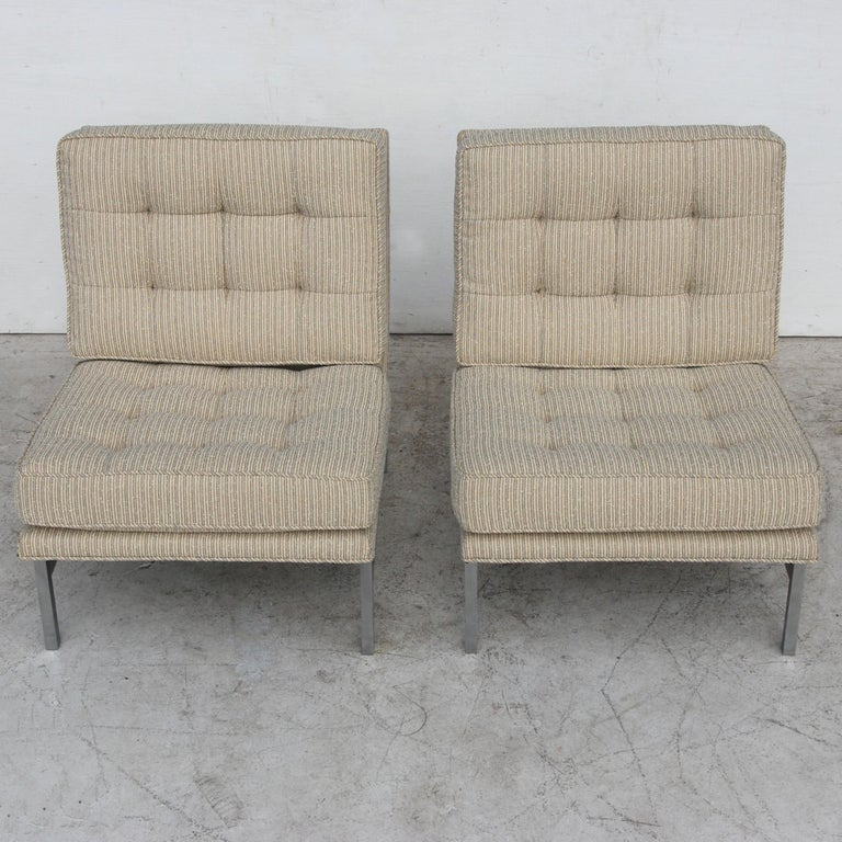 20th Century Pair of 1950s Midcentury Florence Knoll Lounge Chairs For Sale