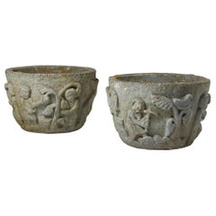 Pair of Flower Pots, Anonymous, Sweden, 1950s