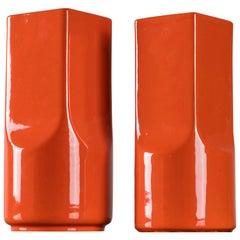 Pair of Flower Vases by Studio O.P.I. for Gabbianelli