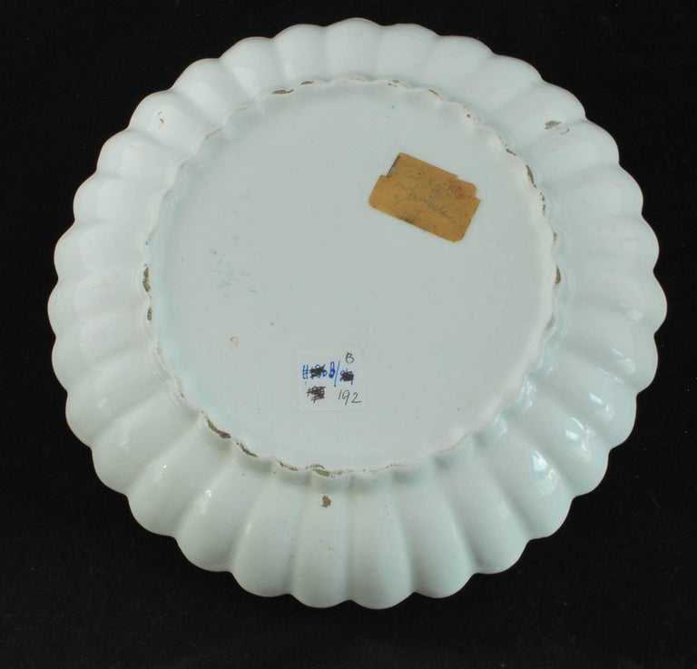Japonisme Pair of Fluted Dessert Plates, Kakiemon Decoration, Bow Porcelain Factory For Sale