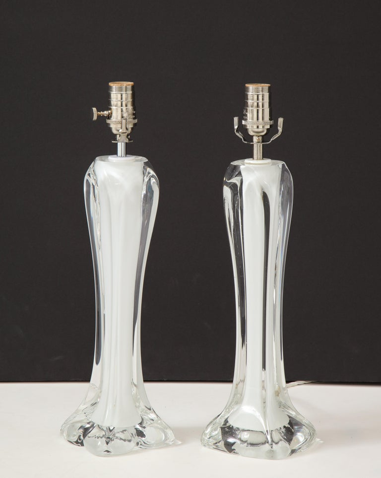20th Century Pair of Flygsfors Crystal Lamps For Sale