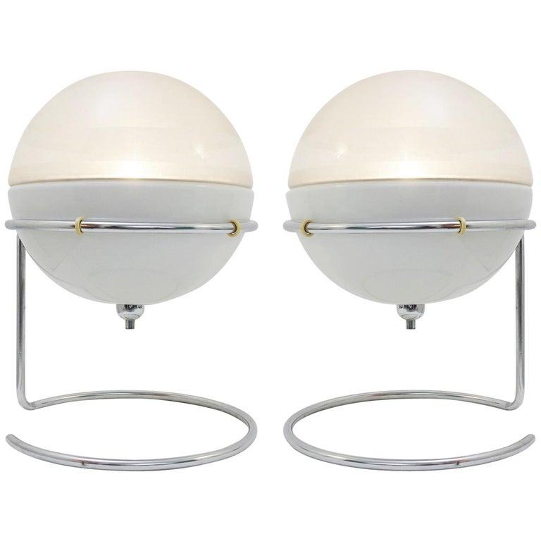 Pair Of Quot Focus Quot Table Lamps Designed By Fabio Lenci For