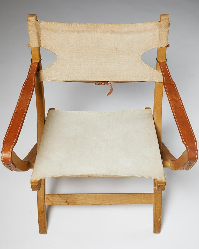 Pair of Folding Chairs Designed by Poul Hundevad for Vamdrup For Sale 3
