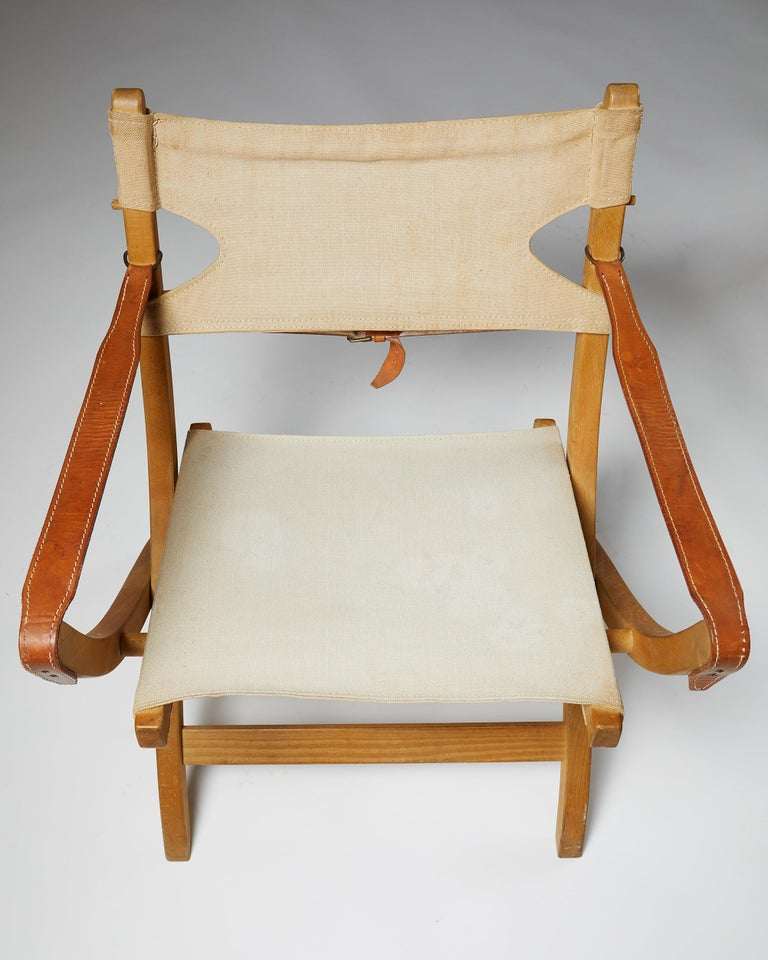 Pair of Folding Chairs Designed by Poul Hundevad for Vamdrup For Sale 2