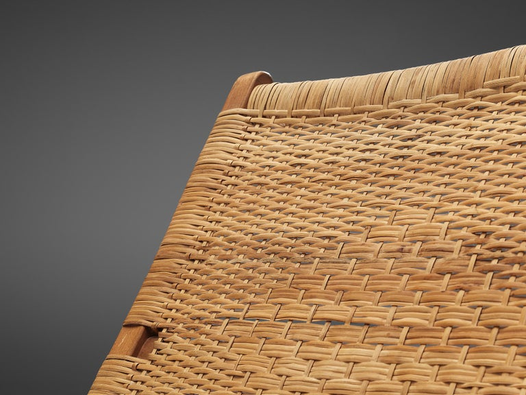 Pair of Folding Chairs in Wicker and Wood 6
