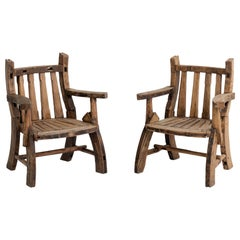 Pair of Folk Art Armchairs