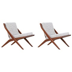 "Pair of Folke Ohlsson ""Scissor"" Lounge Chairs for DUX"