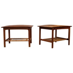 Pair of Folke Ohlsson Teak Side Tables / Bedside Tables for DUX, 1950s